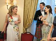 LADY DALMENY; ALAN ROXBURGH; VIOLET FRASER;  , The Royal Caledonian Ball 2013. The Great Room, Grosvenor House. Park lane. London. 3 May 2013.