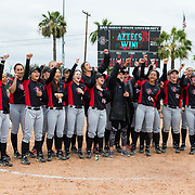 12 May 2018: San Diego State women's softball closed out the season against Utah State with a 3-2 win on seniors day and sweep the series. <br /> More game action at sdsuaztecphotos.com