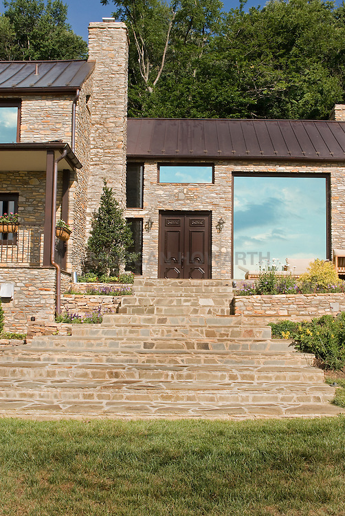 13661 Wilt Store Rd., Leesburg, VA Front home exterior stone wall