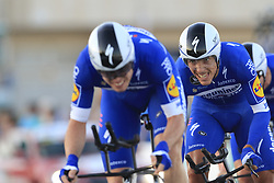 Deceuninck-Quick Step including Philippe Gilbert (BEL) during Stage 1 of La Vuelta 2019, a team time trial running 13.4km from Salinas de Torrevieja to Torrevieja, Spain. 24th August 2019.<br /> Picture: Eoin Clarke | Cyclefile<br /> <br /> All photos usage must carry mandatory copyright credit (© Cyclefile | Eoin Clarke)