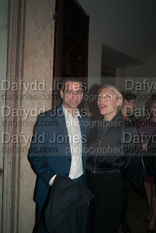 MATTHEW SLOTOVER; EMILY KING, Andrea Dibelius of the EMDASH Foundation hosts party to celebrate the Austrian Pavilion and artist Mathias Poledna at the Venice Biennale. Palazzo Barbaro, Venice. 30 May 2013<br /> <br /> <br /> Venice. Venice Bienalle. 28 May 2013