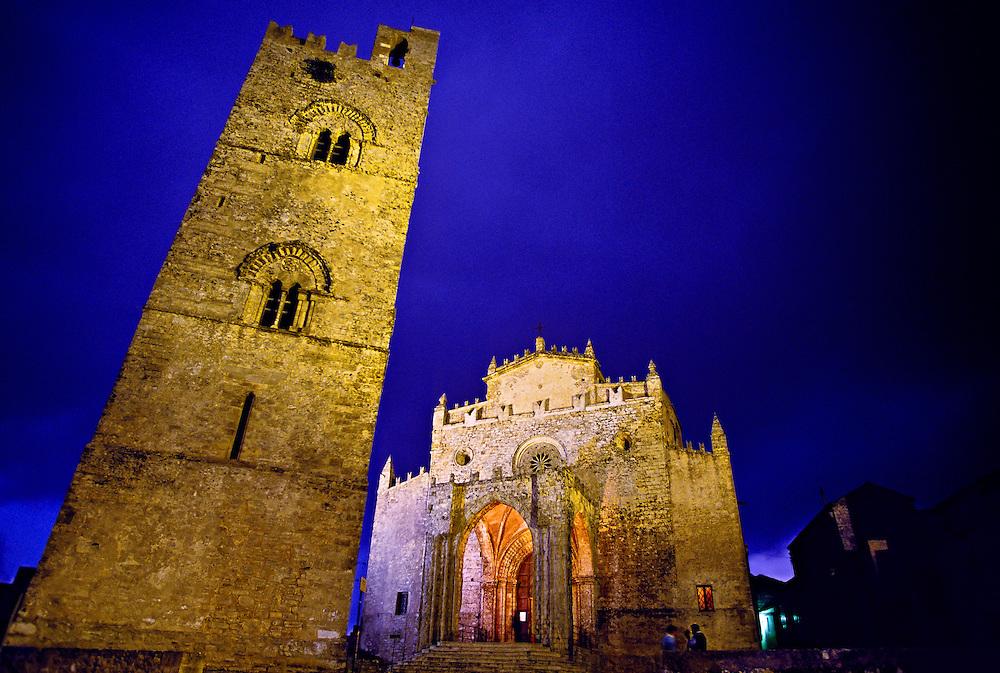 Torre Campanaria and Duomo, Erice, Sicily, Italy