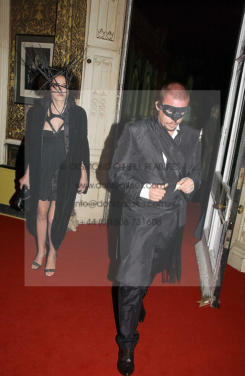 ALEXANDER MCQUEEN and ANNABEL NEILSON at the 2006 Moet & Chandon Fashion Tribute in honour of photographer Nick Knight, held at Strawberry Hill House, Twickenham, Middlesex on 24th October 2006.<br />