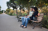 Erbil, Iraqi Kurdistan. A young couple at the Minar park. Erbil is secular and liberal, and probably one of the more tolerant areas in the wider Middle East.