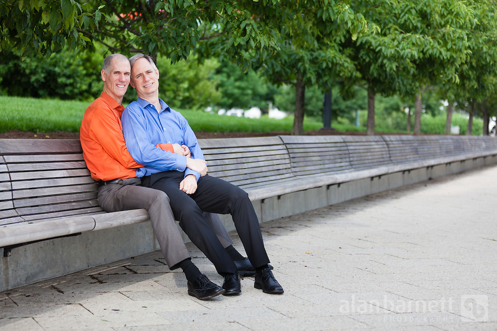 Clay & David's engagement photos in Hudson River Park in the Chelsea neighborhood of Manhattan.