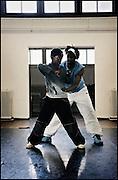 Professional dancer and producer Edsel Cameron teaches breakdance and DJ-Spinning at the HipHop2 (quadrate) School in Arnhem in the Netherlands. At the Hip Hop school youngsters from 10 to 25 can take workshops in rap, hip hop, breakdance and DJ Spinning...In Arnhem is sinds januari 2006 een HipHopschool gevestigd. Op deze school kunnen jongeren van tussen de 10 en 25 jaar workshops volgen in Rap, R&B zang, Breakdance, HipHop dance en DJ Spinning. Dit iniatief is tot stand gekomen door een samenwerking van Stichting Interart en de Arnhemse Rapgroep ' Andere Gekte'.  Arnhem, NETHERLANDS - 15-2-06: