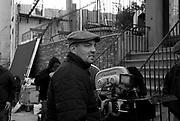 "Jeffrey Bernstein on the set of ""Ghost Town"" (Dir: David Koepp, 2008)"