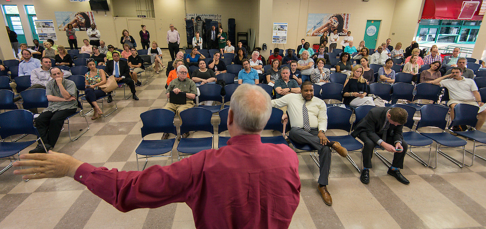 Bond community meeting at Lamar High School, May 11, 2016.