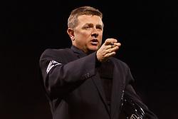 June 7, 2011; San Francisco, CA, USA;  MLB umpire Greg Gibson (53)during the ninth inning between the San Francisco Giants and the Washington Nationals at AT&T Park. Washington defeated San Francisco 2-1.