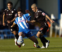 Photo: Olly Greenwood.<br />Colchester United v West Bromwich Albion. Coca Cola Championship. 20/10/2007. West Brom's Kevin Phillips goes past Colchester's Bela Balogh