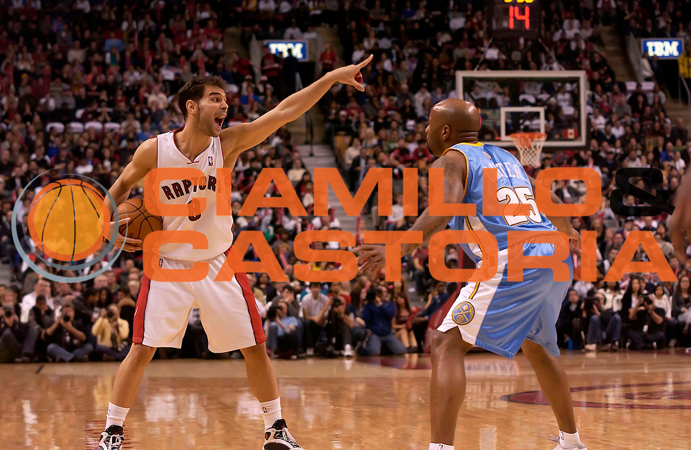 DESCRIZIONE : Toronto NBA 2009-2010 Toronto Raptors Denver Nuggets<br /> GIOCATORE : Jose Calderon<br /> SQUADRA : Toronto Raptors Denver Nuggets<br /> EVENTO : Campionato NBA 2009-2010 <br /> GARA : Toronto Raptors Denver Nuggets<br /> DATA : 25/03/2010<br /> CATEGORIA :<br /> SPORT : Pallacanestro <br /> AUTORE : Agenzia Ciamillo-Castoria/V.Keslassy<br /> Galleria : NBA 2009-2010<br /> Fotonotizia : Toronto NBA 2009-2010 Toronto Raptors Denver Nuggets<br /> Predefinita :