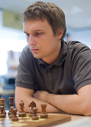 Denis Gjuran in action during the Slovenian National Chess Championships in Ljubljana on August 9, 2010.  (Photo by Vid Ponikvar / Sportida)