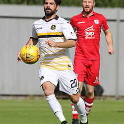 Dimitrios Froxylias in action  during the Dumbarton v Connah's Quay Nomads Irn Bru cup second round 2 September 2017<br /> <br /> <br /> <br /> <br /> (c) Andy Scott | SportPix.org.uk