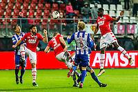 ALKMAAR - 25-01-2017, AZ - sc Heerenveen, AFAS Stadion, 1-0, AZ speler Alireza Jahanbakhsh, AZ speler Derrick Luckassen (r).