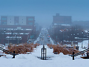 23 JANUARY 2020 - DES MOINES, IOWA: A thick fog blankets Des Moines Thursday morning.      PHOTO BY JACK KURTZ