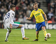 FOOTBALL: Petr Jiráček (FC Zlin) and Pieros Sotiriou (FC København) in action during the UEFA Europa League Group F match between FC København and FC Zlin at Parken Stadium, Copenhagen, Denmark on November 2, 2017. Photo: Claus Birch