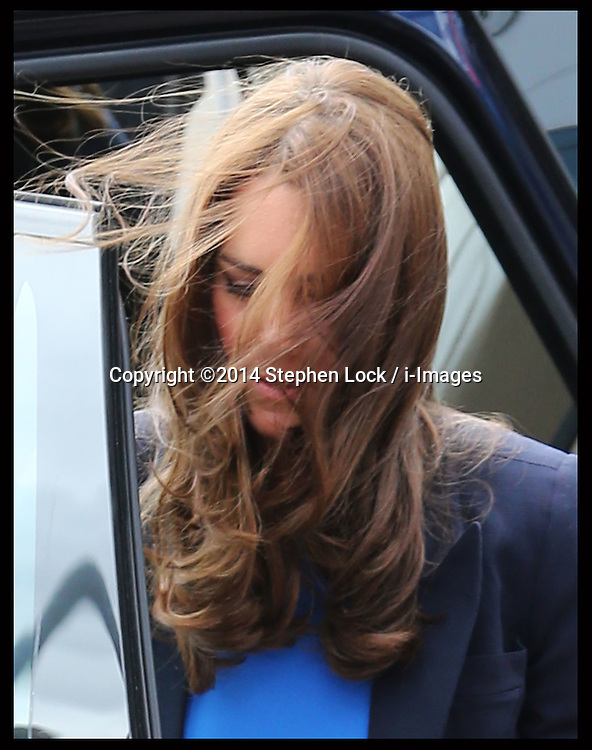 Image licensed to i-Images Picture Agency. 29/07/2014. Glasgow, United Kingdom. Duchess of Cambridge arriving at Hampden Park, Glasgow  to watch the Athletics competition  on day six of the Commonwealth Games.  Picture by Stephen Lock / i-Images