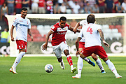 Korey Smith (7) of Bristol City on the attack during the EFL Sky Bet Championship match between Bristol City and Nottingham Forest at Ashton Gate, Bristol, England on 4 August 2018. Picture by Graham Hunt.