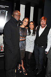 Left to right, SEAL, YASMIN LE BON, ROSARIO DAWSON and SIMON LE BON at a party to celebrate the launch of the new Vertu Constellation phone - the luxury phonemakers first touchscreen handset, held at the Farmiloe Building, St.John Street, Clarkenwell, London on 24th November 2011.