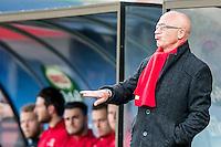 HELMOND - Helmond Sport - Achilles 29 , Lavans stadion , Voetbal , Jupiler League , 01-05-2015 ,  Helmond sport trainer Coach Jan van Dijk