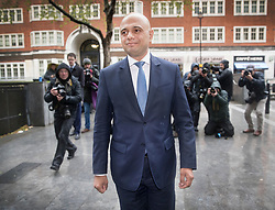 © Licensed to London News Pictures. 30/04/2018. London, UK. New Home Sectetary Sajid Javid walks into the Home Office after posing for photographs. Amber Rudd resigned late last night. Photo credit: Peter Macdiarmid/LNP