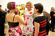 SILVIA ZIRANEK; ; GRAYSON PERRY,; JACKY KLEIN;  Private view for the Turner prize exhibition. Tate Britain. London. 4 October 2010. -DO NOT ARCHIVE-© Copyright Photograph by Dafydd Jones. 248 Clapham Rd. London SW9 0PZ. Tel 0207 820 0771. www.dafjones.com.