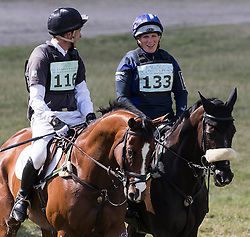 Image ©Licensed to i-Images Picture Agency. 06/07/2014. Marlborough, United Kingdom. International Horse trials,Wiltshire. Barbury Castle.  Zara Phillips rides Black Tuxedo cross country Picture by i-Images