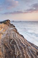 Rugged sandstone headlands of Shore Acres State Park on the Oregon Coast