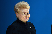 Meeting of NATO Heads of State and/or Government<br /> Brussels, Belgium -  Official portrait in the Agora<br /> <br /> On the photo:   Lituania's President Dalia Grybauskaite