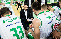 Jure Zdovc, coach of Petrol Olimpija during basketball match between KK Petrol Olimpija and KK Rogaska in Round #5 of Liga Nova KBM za prvaka 2018/19, on March 31, 2019, in Arena Stozice, Ljubljana, Slovenia. Photo by Masa Kraljic / Sportida