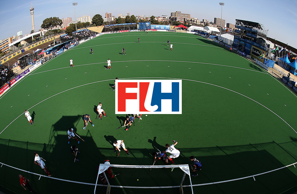 JOHANNESBURG, SOUTH AFRICA - JULY 13:  Victor Charlet of France shoots at goal on day 3 of the FIH Hockey World League Semi Finals Pool A match between Japan and France at Wits University on July 13, 2017 in Johannesburg, South Africa.  (Photo by Jan Kruger/Getty Images for FIH)