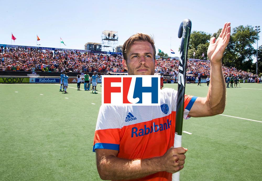 BREDA -  Jeroen Hertzberger (Ned)   na  de wedstrijd om brons tussen Nederland en Argentinie (2-0) bij de Hockey Champions Trophy.  COPYRIGHT KOEN SUYK