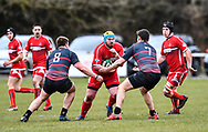 Photographer Craig Thomas/Replay Images<br /> <br /> WRU Bowl Semi Final - Pembroke RFC v Cardiff Uni - Saturday 31st March 2018 - Crickmarren Field - Pembroke<br /> <br /> World Copyright &copy; Replay Images . All rights reserved. info@replayimages.co.uk - http://replayimages.co.uk