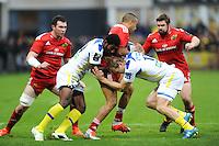 Noa NAKAITACI / Aurelien ROUGERIE - 14.12.2014 - Clermont / Munster - European Champions Cup <br /> Photo : Jean Paul Thomas / Icon Sport