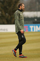 March 6, 2018 - Vinovo, Piedmont, Italy - Giorgio Chiellini (Juventus FC) during the training on the eve of the second leg of the Round 16 of the UEFA Champions League 2017/18 between Juventus FC and Tottenham Hotspur FC at Juventus Training Center on 06 March, 2018 in Vinovo (Turin), Italy. (Credit Image: © Massimiliano Ferraro/NurPhoto via ZUMA Press)
