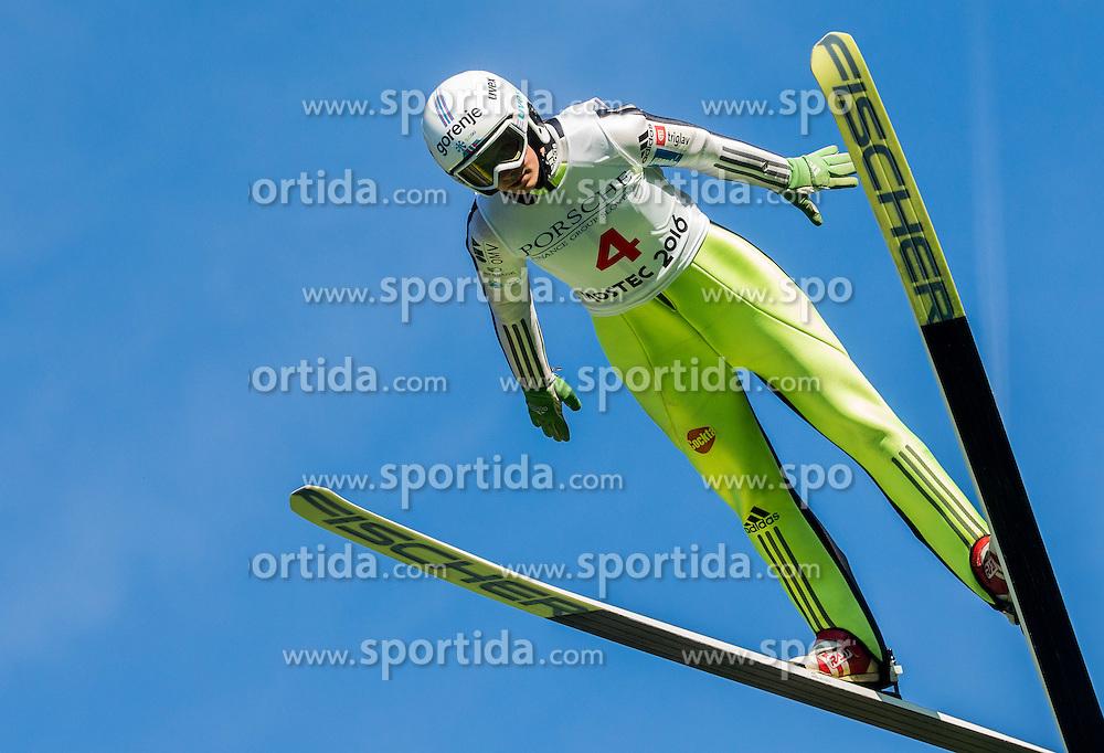 Eva Logar (SLO) during Ski jumping Summer cup - 45. Revija skokov Mostec on June 4, 2016 in Mostec hill, Ljubljana, Slovenia.Photo by Vid Ponikvar / Sportida
