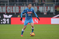 January 26, 2019 - Milan, Milan, Italy - abian Ruiz #8 of SSC Napoli in action during the serie A match between AC Milan and SSC Napoli at Stadio Giuseppe Meazza on January 26, 2018 in Milan, Italy. (Credit Image: © Giuseppe Cottini/NurPhoto via ZUMA Press)