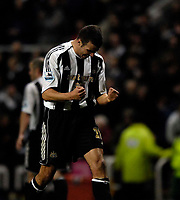 Photo: Jed Wee.<br /> Newcastle United v Aston Villa. The Barclays Premiership. 31/01/2007.<br /> <br /> Newcastle's Steven Taylor celebrates their win at the final whistle.
