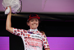 Susanne Andersen (NOR) retains the nest Norwegian jersey during Ladies Tour of Norway 2019 - Stage 3, a 125 km road race from Moss to Halden, Norway on August 24, 2019. Photo by Sean Robinson/velofocus.com