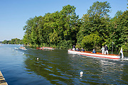 Henley on Thames, England, United Kingdom, 3rd July 2019, Henley Royal Regatta  time trial, on Henley Reach, [© Peter SPURRIER/Intersport Image]<br /> <br /> 09:00:08 1919 - 2019, Royal Henley Peace Regatta Centenary,