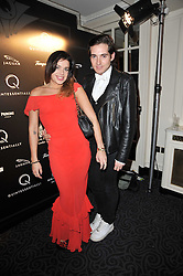 WILLA KESWICK and RICHARD DENNEN at Quintessentially's 10th birthday party held at The Savoy Hotel, London on 13th December 2010.