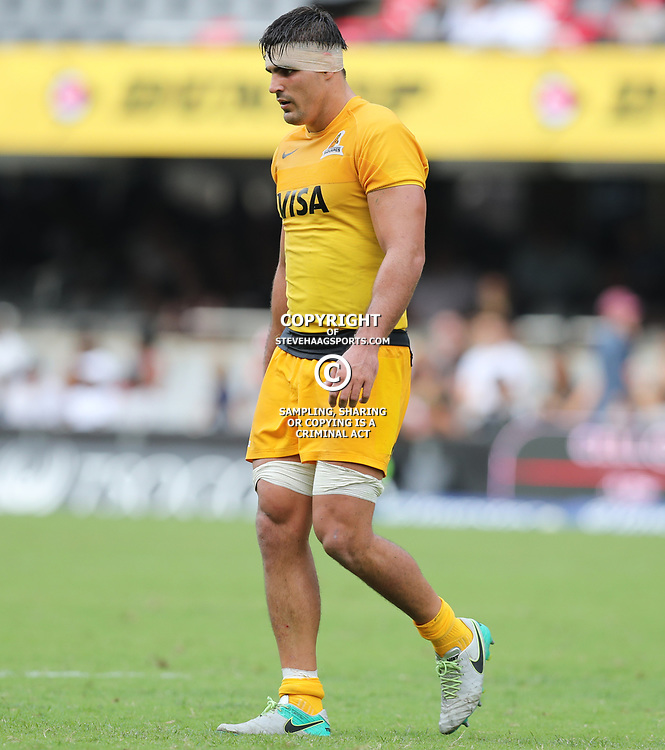 Pablo Matera of the Jaguares during the Super Rugby match between the Cell C Sharks and the Jaguares  April 8th 2017 - at Growthpoint Kings Park,Durban South Africa Photo by (Steve Haag)