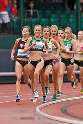 Olympic Trials Eugene 2012: women's 10,000 meter final, Shalane Flanagan leads on way to 2nd place and qualifiying for Olympic team