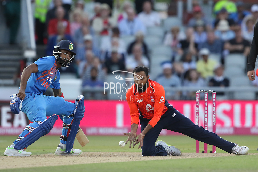 Adil Rashid during the International T20 match between England and India at Old Trafford, Manchester, England on 3 July 2018. Picture by George Franks.