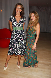 Left to right, ANDREA DELLAL and her daughter CHARLOTTE DELLAL at party in aid of cancer charity Clic Sargent held at the Sanderson Hotel, Berners Street, London on 4th July 2005.<br />