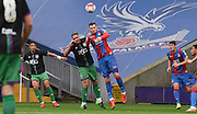 Jordon Mutch makes the defensive header during the Final Third Development League match between U21 Crystal Palace and U21 Bristol City at Selhurst Park, London, England on 3 November 2015. Photo by Michael Hulf.