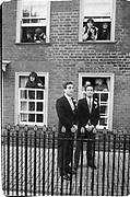 Groom and best man: Charles Heilbronn. Marriage Lady Joanna Knat and bull/baron Hubert de Breuil St. Mary's Ashtard, 3.11.84© Copyright Photograph by Dafydd Jones 66 Stockwell Park Rd. London SW9 0DA Tel 020 7733 0108 www.dafjones.com