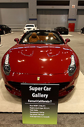 12 February 2015: Ferrari California T.<br /> <br /> First staged in 1901, the Chicago Auto Show is the largest auto show in North America and has been held more times than any other auto exposition on the continent. The 2015 show marks the 107th edition of the Chicago Auto Show. It has been  presented by the Chicago Automobile Trade Association (CATA) since 1935.  It is held at McCormick Place, Chicago Illinois
