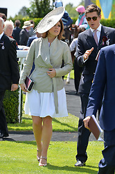 HRH PRINCESS EUGENIE OF YORK and JAKE WARREN at the Qatar Goodwood Festival - Ladies Day held at Goodwood Racecourse, West Sussex on 30th July 2015.