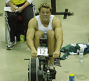 &copy; Peter Spurrier/Sports Photo +44 (0) 7973 819 551.PPP Healthcare British Indoor Rowing Championships.18th Nov. 2001.National Indoor Arena..Three quarter's through the race James Cracknell starts to feel the pain... ........... [Mandatory Credit: Peter SPURRIER/Intersport Images]<br /> <br /> 20011118 British Indoor Rowing Championships, Birmingham.